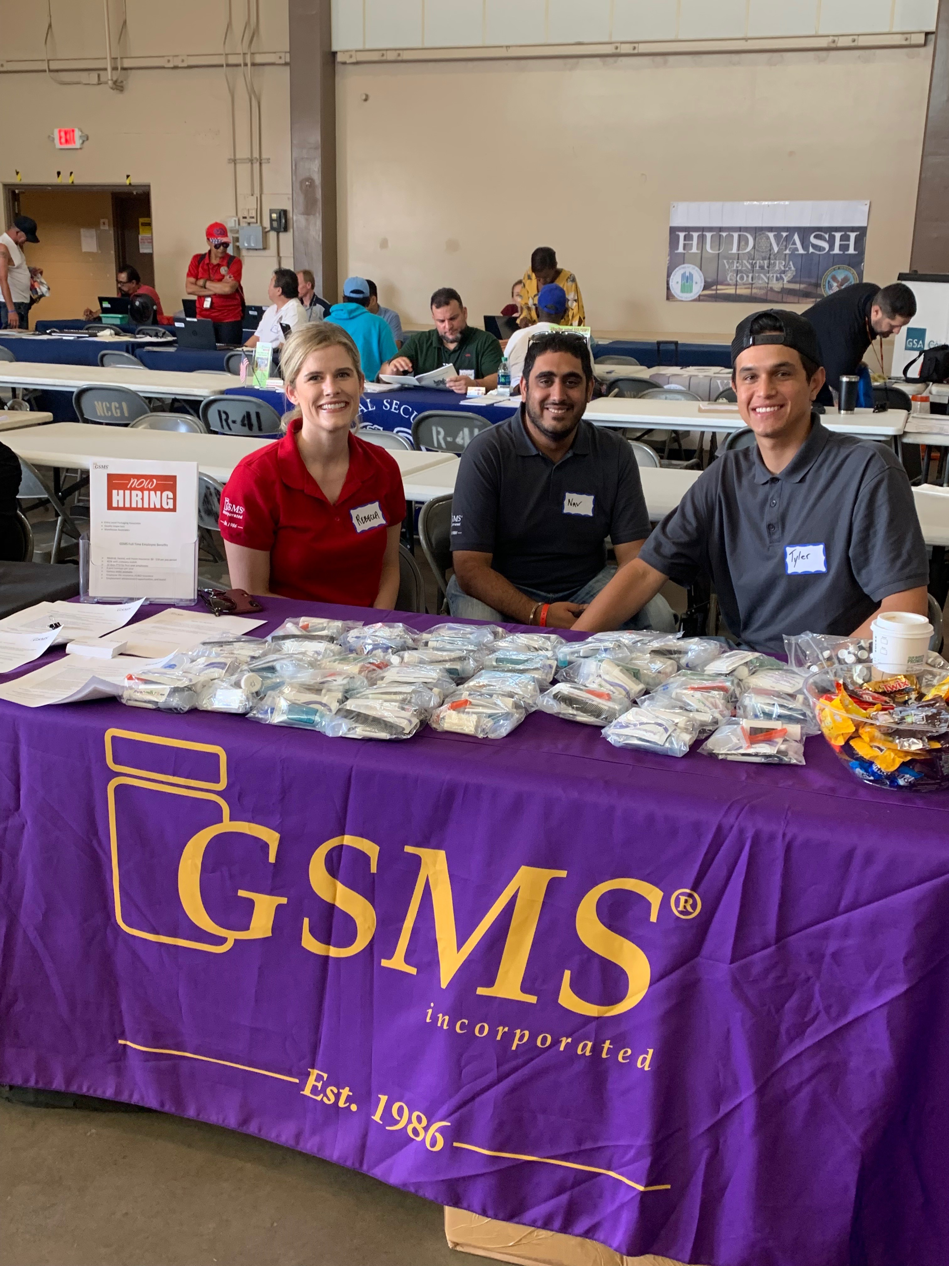 GSMS employees distribute toiletry kits at Ventura County Stand Down